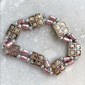 Vintage Mini Purple Metal Bead Delicate Bracelet